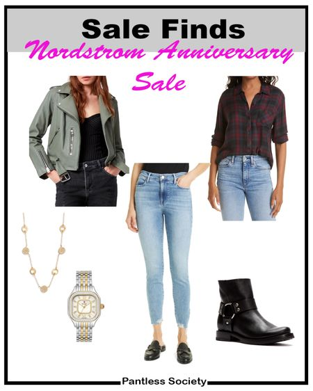 NSale. Nordstrom Anniversary Sale. Plaid. Leather jacket. Work outfit. Mom outfit. Date outfit. Night out. Belt bag. On sale. Sale picks. Sale style. Nordstrom sale. Nordstrom style. Black boots. Gold accessories. Splurge.  #LTKsalealert #LTKshoecrush #LTKstyletip