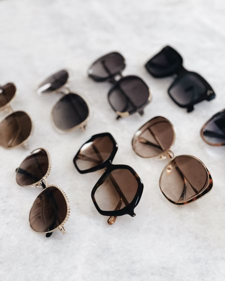 Sunglasses roundup, summer accessories, summer outfit, beach outfit, vacation essentials, StylinbyAylin @liketoknow.it http://liketk.it/3hV0v  #liketkit      #LTKstyletip #LTKunder100 #LTKswim