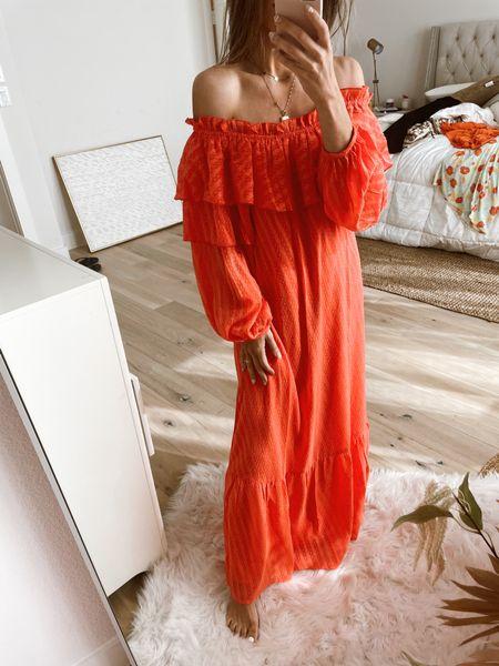 Off the shoulder maxi dress tts   #LTKunder100 #LTKsalealert #LTKstyletip