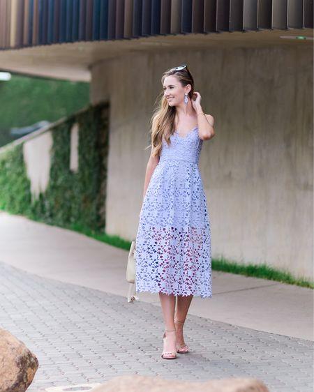 Lace midi dress for spring http://liketk.it/39tMp #liketkit @liketoknow.it #LTKunder100 #LTKstyletip #LTKSeasonal
