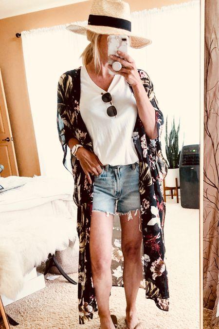 Summer hat outfit. Vacation outfit poolside.   #LTKSeasonal #LTKunder50 #LTKstyletip