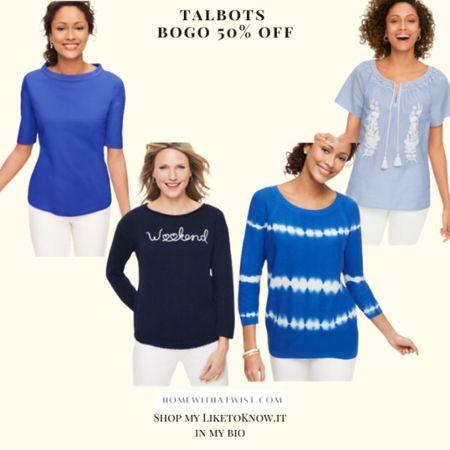 Talbots is buy one get one 50% off! #talbots http://liketk.it/3hcG5 #liketkit @liketoknow.it #LTKunder100 #LTKsalealert #LTKtravel