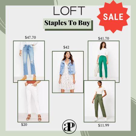 Loft 3 Day Sale Finds! Perfect Staples that will last you all year! Under $50!   #LTKunder50 #LTKworkwear #LTKsalealert