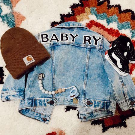 DIY Baby Jean Jacket 🖤 http://liketk.it/2Ydgn #liketkit @liketoknow.it #LTKbaby #LTKbump #LTKkids