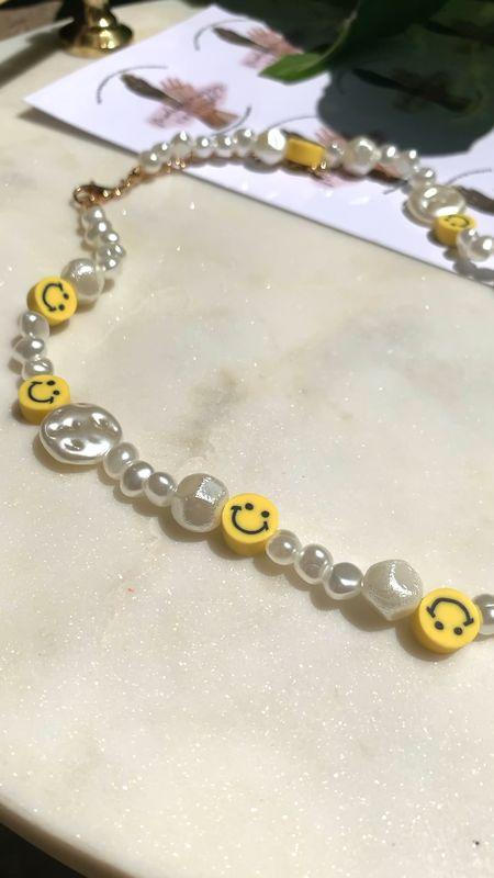 All smiles for summer  Smiley face necklace with pearls   #LTKunder100 #LTKkids #LTKworkwear