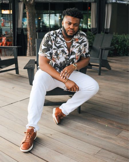 Summer really just came and left 😪.   Shirt & jeans by @expressmen  Necklace by @asos_man  Shoes by @colehaan  Bracelet by @gilesandbrother  Watch by @mvmt     #LTKmens