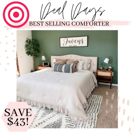 Target deal days! My best selling comforter and bedding is 30% off!  #dealdays #arearug #eggchair #masterbedroom #rattanlight #targetdecor #bedding #comforter #targethomedecor #targetstyle #bohodecor #masterbedroomdecor #bedroomdecor #bedroominspo  #LTKSeasonal #LTKunder100 #LTKhome
