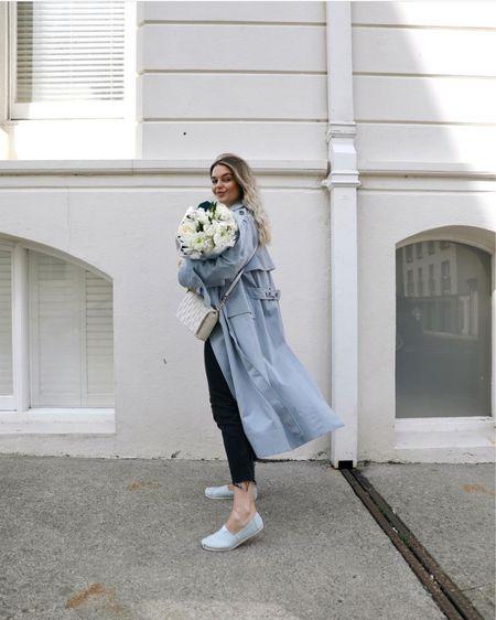 Toms, blue, blue trench coat, spring fashion, summer fashion, outfit inspiration, fashion blogger, style gram http://liketk.it/3hOFB #liketkit @liketoknow.it
