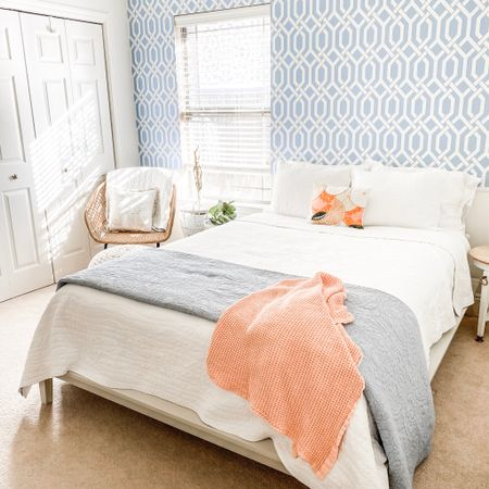 2020 Quarantine Project: Guestroom Makeover. This room has rapidly become one of my favorite spaces in the whole house; a mix of thrifted finds + Pottery Barn staples + Target accessories. http://liketk.it/36sdj #liketkit @liketoknow.it