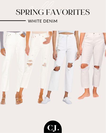 White denim round up! Cellajaneblog