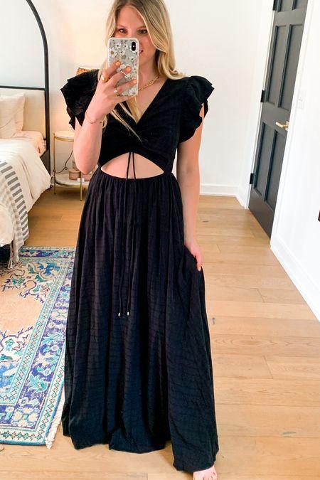 Black dress black maxi dress summer red dress   #LTKstyletip #LTKsalealert #LTKunder50