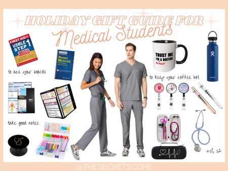 Holiday Gift Guide for Medical Students 🧑🏻⚕️🧑🏼⚕️🧑🏽⚕️🧑🏾⚕️🧑🏿⚕️ #holidaygiftguide #giftguide #christmas #doctor #physician #giftsforhim #giftsforher #figsscrubs #coffee #medicalstudent #amazon #stethoscope #hydroflask http://liketk.it/33bKZ @liketoknow.it #liketkit #LTKgiftspo #LTKworkwear #LTKunder50