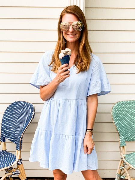 Summer dress, amazon finds, amazon dress, 90's style, end of summer outfit, finding beauty mom   #LTKunder50 #LTKstyletip