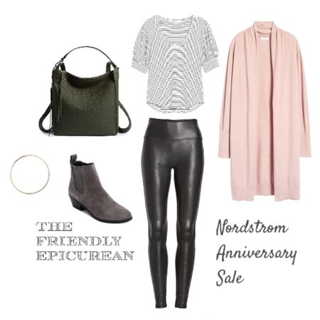 Nordstrom Anniversary Sale now open to all! Shop this cute casual summer to fall outfit. Spanx leggings and cozy suede booties are wardrobe must haves! http://liketk.it/2UQps #liketkit @liketoknow.it Shop my daily looks by following me on the LIKEtoKNOW.it shopping app
