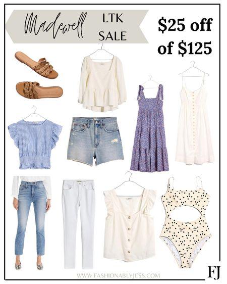 Madewell summer style 👌🏼 http://liketk.it/3hbk9 #liketkit @liketoknow.it summer dresses, summer tops, sandals, bags, sun dresses #LTKDay #LTKsalealert #LTKstyletip