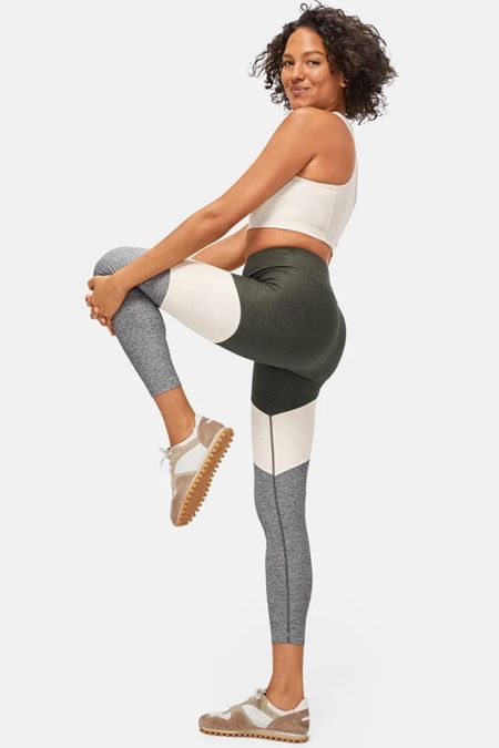 Springs 7/8 legging by Outdoor Voices. Sculpts and fits like a glove.  Mid-weight textured compression fabric.  Runs small- size up! XS - XL  #kimbentley #exercise  #LTKunder100 #LTKfit #LTKDay