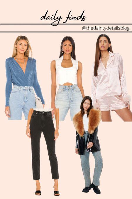 Daily finds: fall outfits, jeans, bodysuit, jacket, bridal pajamas, bachelorette pajamas, corset top  #LTKunder100 #LTKSeasonal #LTKsalealert