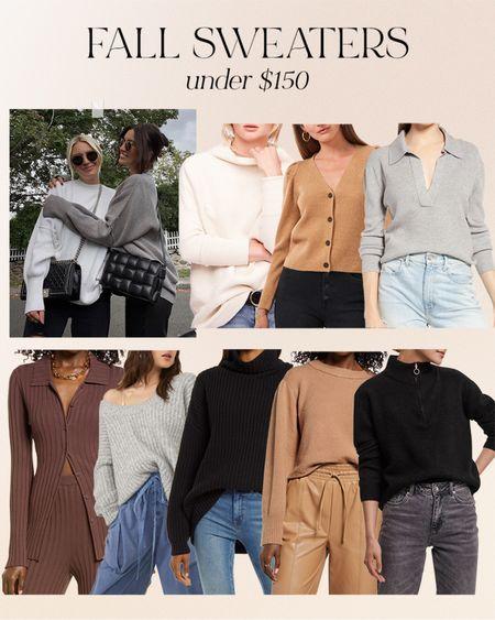 Fall sweaters under $150 from @nordstrom 🤎  #nordstrom #ad   #LTKSeasonal #LTKstyletip