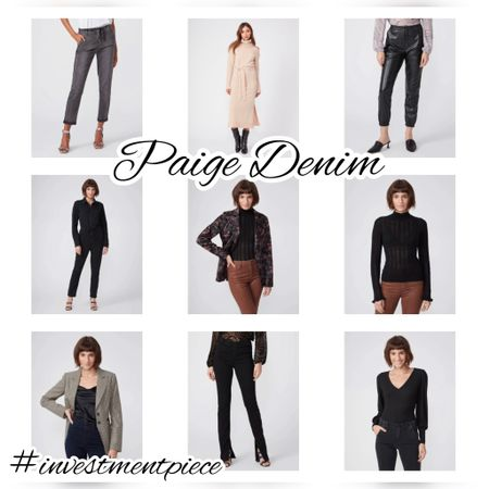 From knit dresses to blazers to on trend leather pants- everything is 25% off @paigedenim with code PAIGEFAMILY2021 and these are my faves! #investmentpiece   #LTKstyletip #LTKsalealert #LTKSeasonal