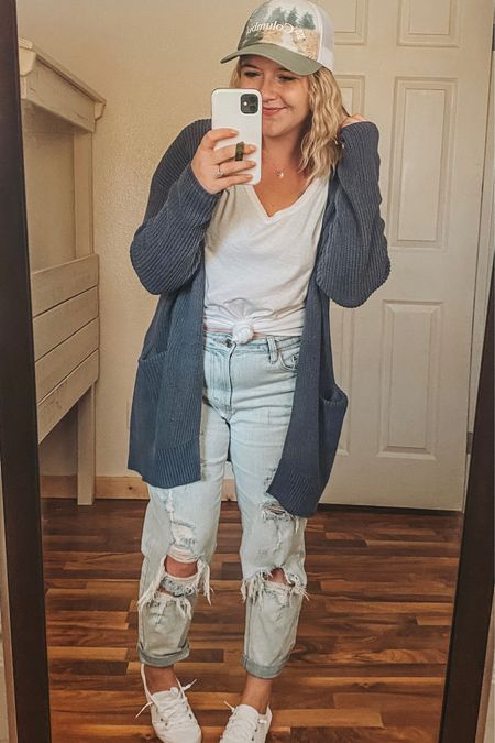 Most of my outfit is from target. I might have a problem. 😉 Tee and Sweater are mediums, mom jeans are size 6! Target finds, target mom jeans, $8 target tee, target sweater, fall sweater, fall sneaker, casual outfit, Columbia hat, women's hats, casual fall, cozy, fall finds, fall must haves, essential pieces.   http://liketk.it/2Yi7S #liketkit #LTKstyletip #LTKsalealert #LTKshoecrush #ltkfall @liketoknow.it