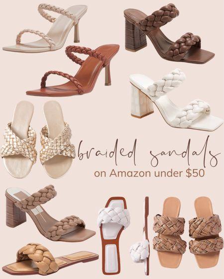 Braided sandals on Amazon under $50! Amazon fashion trendy summer favorites!   #LTKstyletip #LTKshoecrush #LTKunder50