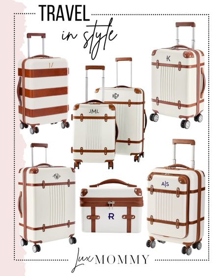 Travel in style! I have a set of these suitcases and they are amazing and look so chic.   #LTKhome #LTKfamily #LTKtravel