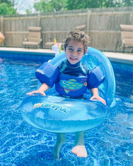 Boys swim shirt, trunks, and water wings 👉🏼 http://liketk.it/3gYuP #liketkit @liketoknow.it #LTKfamily #LTKswim #LTKkids