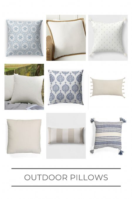 Outdoor pillow roundup! Some of these are great budget options, so be sure to look for sale items!    #LTKhome #LTKunder50