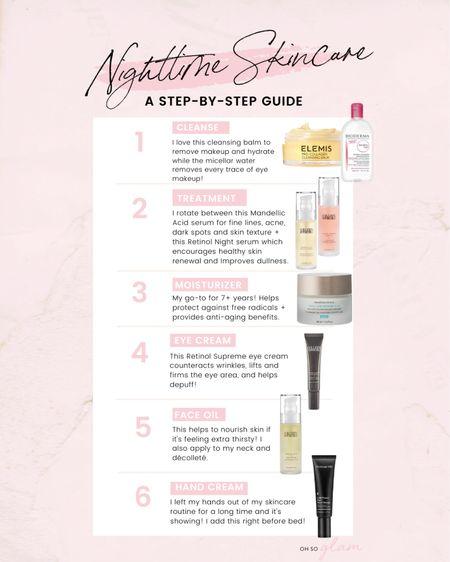 My nighttime skincare routine guide!   #LTKbeauty