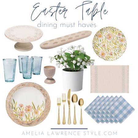 Easter dinner table must haves from Target.   Target finds, spring, spring decor, Easter   #StayHomeWithLTK #LTKSeasonal #LTKhome