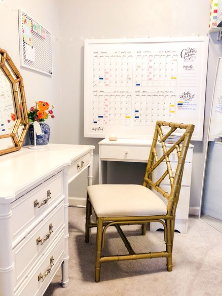 Getting creative with workspace. This is a closet space turned into my office. I'm all about working whatcha got!   #LTKhome #StayHomeWithLTK #LTKunder100