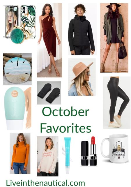 My October Bestsellers so far.   Spanx leggings, Holiday drrsses from Lulus, the IT jacket of the fall, the Palmer Puff, my staple red Dior lipstick, Melsy's Mugs, and more!  #LTKGiftGuide #LTKHoliday #LTKCyberweek