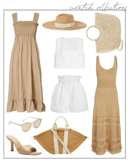 Summer isn't over yet! ☀️ Love these neutral finds to make the most of it. The linen set is by a new-to-me brand, Posse, that I am loving lately! The smocked dress is selling like hot cakes, but I linked the fully stocked black version too. 🤍 #summerdresses #twopieceset #summerdress brown dresses #tandress  #LTKunder100 #LTKSeasonal