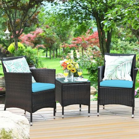 How gorgeous is this outdoor furniture set!? We are loving the summer vibes! #LTKhome
