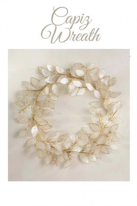 Capiz wreath Just ordered this for fall and winter. So gorgeous! #falldecor #homedecor  Home decor   #LTKhome