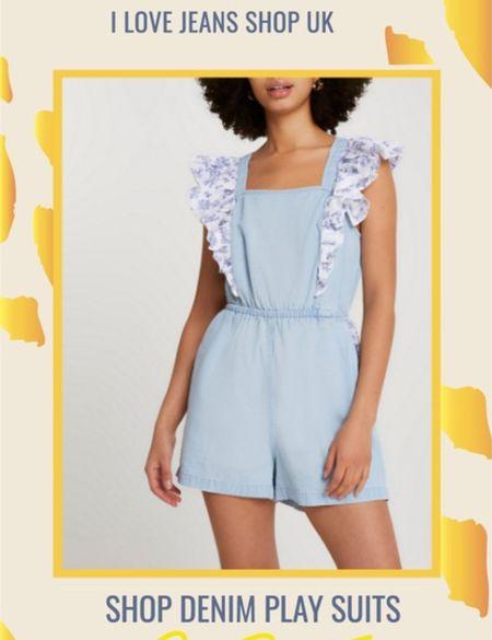Easy Summer Dressing with the denim play suit.   #playsuit #denimplaysuit #shortalls #riverisland   #LTKeurope #LTKstyletip