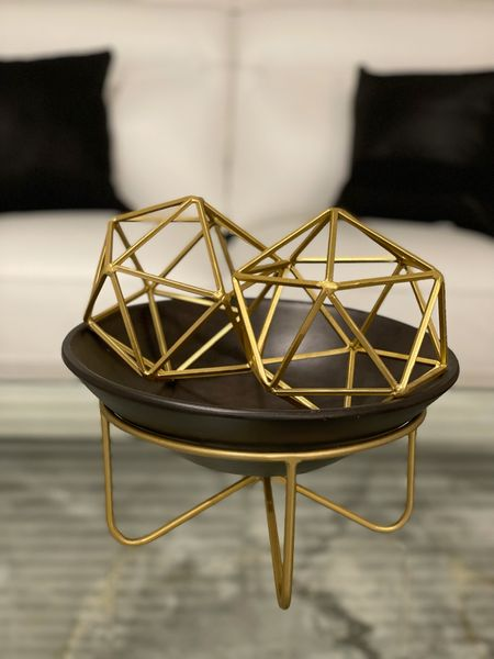 I'm so in love with this clearance decor! The stand & bowl were 90% off at Hobby Lobby. But guess where I got the Gold Geometric balls? Spoiler Alert: They were under $10! 🙌🏾   #LTKunder50 #LTKhome