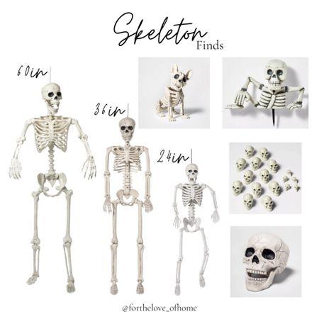 Skeleton finds to add to your Halloween home decor! #target #targetfinds #skeletons #halloween #homedecor   #LTKSeasonal #LTKhome #LTKunder50