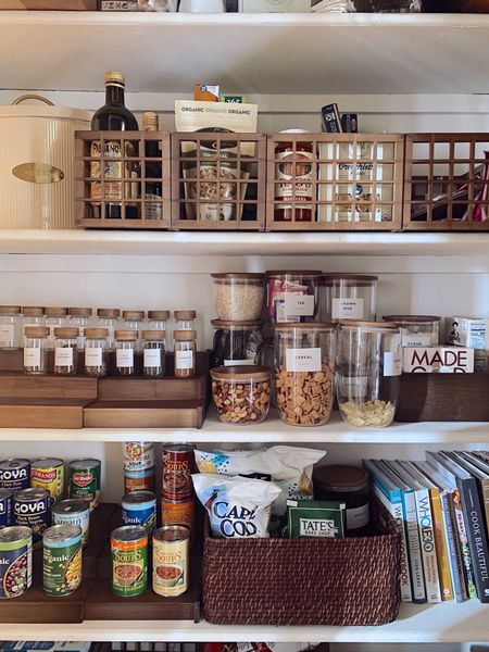 Pantry and kitchen organization - loving Marie Kondo's line at The Container Store. #thecontainerstore #TheContainerStorePartner   #LTKhome