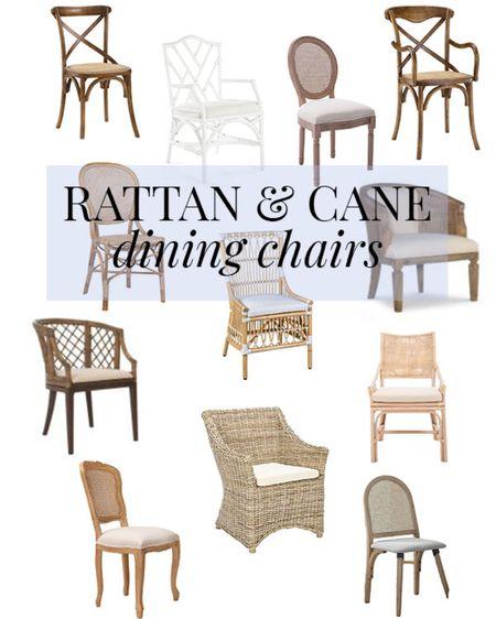 Beautiful rattan & cane dining chairs! #rattan #cane #diningchair #diningroom #rattanchair #canechair #rattanfurniture #canefurniture #furniture #safavieh #homedecor #LTKhome http://liketk.it/3dG0o #liketkit @liketoknow.it