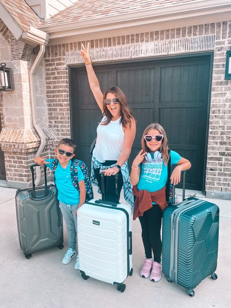 And we're out! ✌🏼✌🏼 Watch out España 🇪🇸, here we come!  We have been looking forward to this trip for 2 YEARS NOW!!  I CANNOT WAIT for my kids to spend time with their Great Grandma! 👵🏼👧🏼🧒🏼Anyone else getting outta town this summer??!  Where to?? I'd love to know where you've been or where you're headed!   . I'm so happy that travel is slowly ramping back up! I love that for us! I think we've all earned it!  💪🏼  I told you guys a few weeks ago I was struggling to find travel gear for our trip because things were sold out all over the place!  Well, of course I found everything I was looking for at my go-to, @walmart , duh!  I should have just checked there to begin with!  Walmart Home had everything I needed online AND it was all delivered super quick!  If you guys haven't checked there for your upcoming vacay, I highly recommend it!  I also went ahead and did a round up of some of my favorite travel accessories and posted it on the blog for y'all!  So you can head over to check those out.  Or you can check the @liketoknow.it app cuz I linked everything there as well. I've got ya covered! 🙌🏼  Happy Vacationing Friends!  Make sure you follow along in stories to see our Spanish adventures!  . . .   #LTKfamily #LTKeurope #LTKtravel