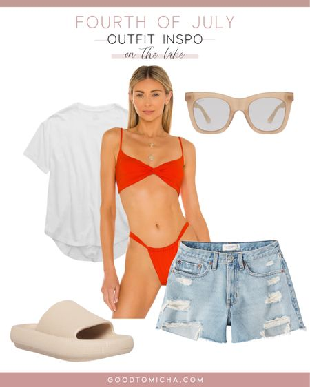 Outfit Inspo: Fourth of July on the lake (or any body of water for that matter) http://liketk.it/3ii7U #liketkit @liketoknow.it #LTKswim #LTKstyletip #LTKfit #outfitinspo #lakeday