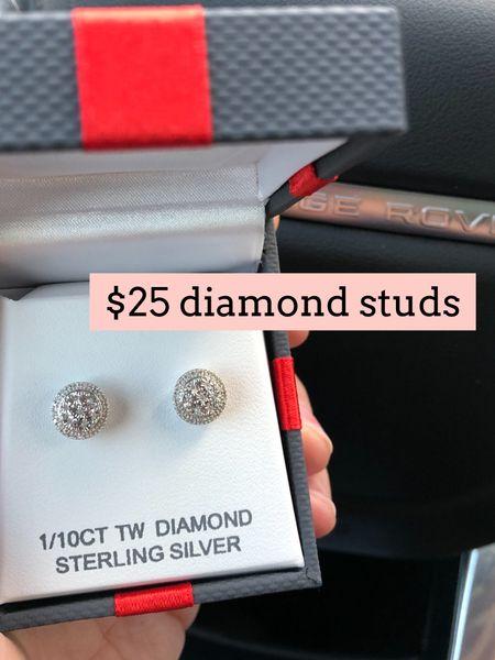 Diamond stud earrings on sale   #LTKsalealert #LTKunder50 #LTKGiftGuide