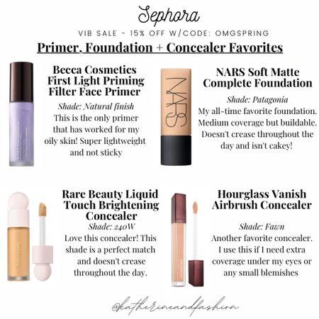 Sephora sale - favorite primer, foundation and concealers for oily skin    #LTKbeauty #LTKsalealert