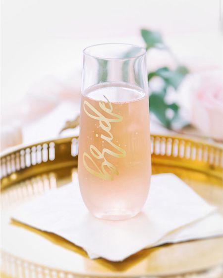 Bride glass by WhiteConfettiBox  http://liketk.it/3huFt #liketkit @liketoknow.it #LTKwedding #LTKsalealert #LTKhome