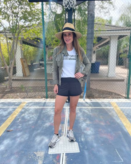 #nationalfitnessday spent as a baseball mom this morning. Details like hats, fun sneaks and graphic T-shirts make it both fitness and fashion @liketoknow.it #liketkit http://liketk.it/3einz