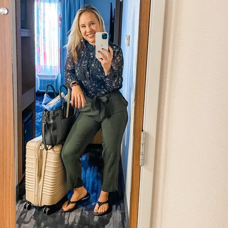 Work and travel day ready with the best flip flops you will ever put on your feet that are off Amazon! Blouse is last year loft so similar linked.   #LTKworkwear #LTKbeauty #LTKtravel
