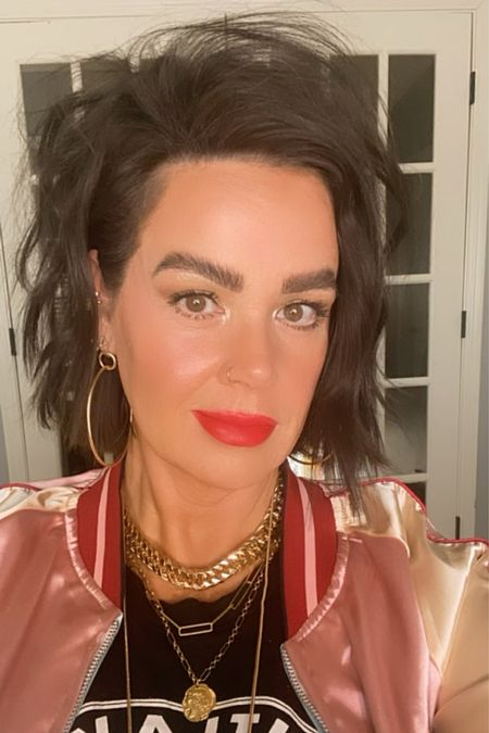 """TGIF!  happy weekend, friends!  I absolutely LOVE this look. The lip is TO DIE FOR!!!! So so pretty!   www.bombshellbeads.com use code """"KIM"""" for 20% off!     #LTKbeauty #LTKunder100 #LTKVDay"""
