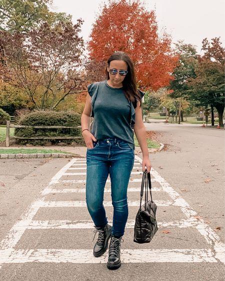Easy fall look, fall style, fall fashion, combat boots,    http://liketk.it/2ZMjp #liketkit @liketoknow.it #LTKitbag #LTKshoecrush #LTKstyletip