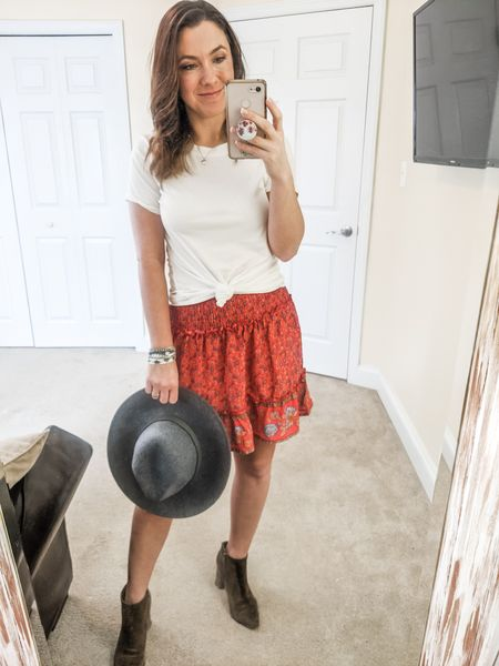 Super cute boho chic skirt for summer! Wear now with jacket and boots, sandals later!    http://liketk.it/2Jwx4 @liketoknow.it #liketkit #LTKsalealert #LTKstyletip #LTKunder50 #LTKunder100 Download the LIKEtoKNOW.it app to shop this pic via screenshot. Follow FigAndRoses 💋